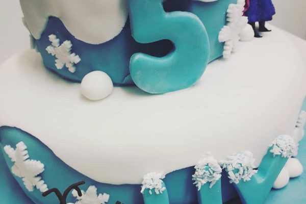 Frozen Cake Close Up