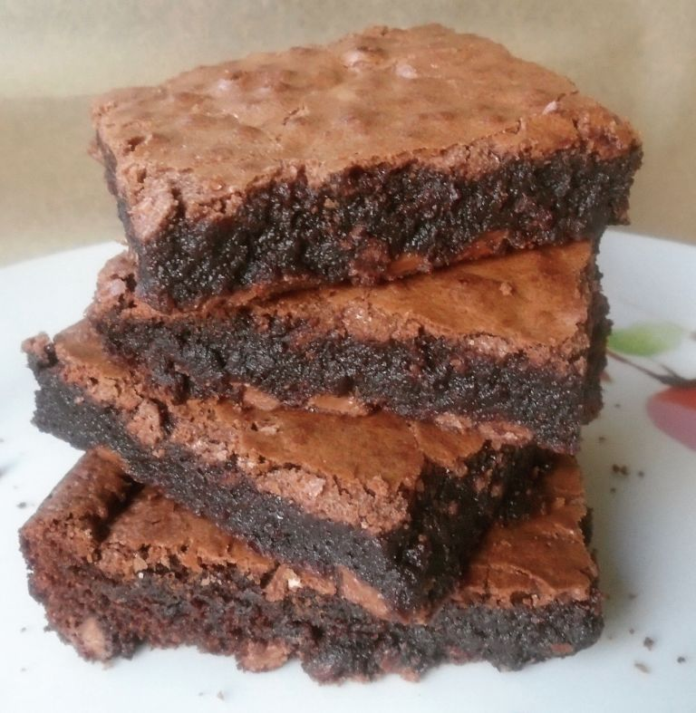 Fudgy Chocolate Brownie Stack