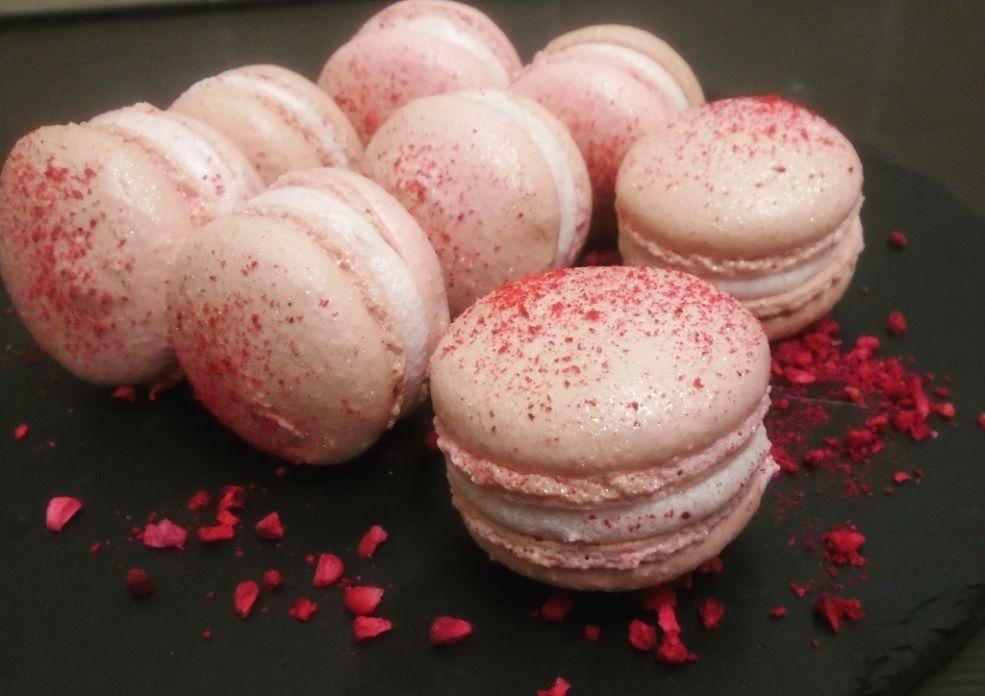 Raspberry Pink Macarons