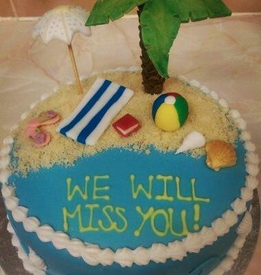 Tropical We Will Miss You Cake